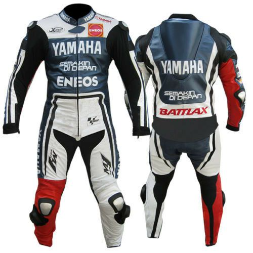 YAMAHA Mens Biker Leather Suit MOTOGP Motorbike//Motorcycle Leather Jacket Pant