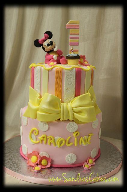 Baby Minnie Mouse Birthday Cake Childrens Birthdays Pinterest