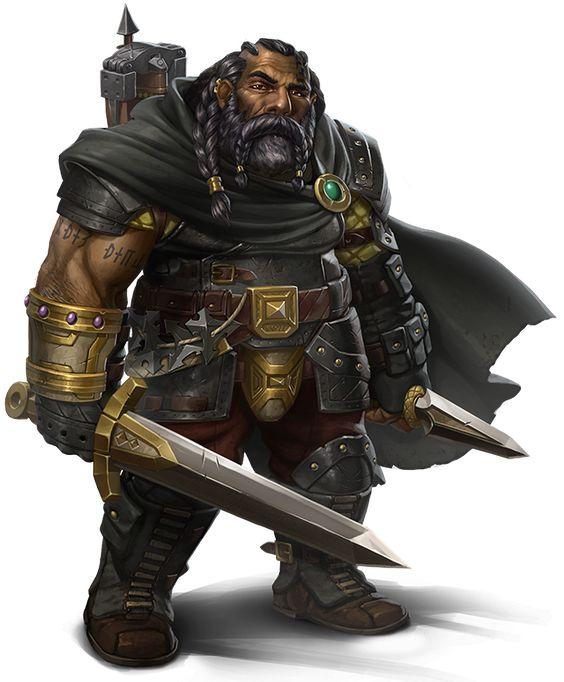 ebony dwarf, black dwarf, ranger, warrior, explorer, rpg ...  ebony dwarf, bl...