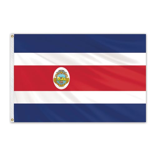 Costa Rica Outdoor Nylon Flag with Seal #FlagCo #OutdoorFlag #CostaRica