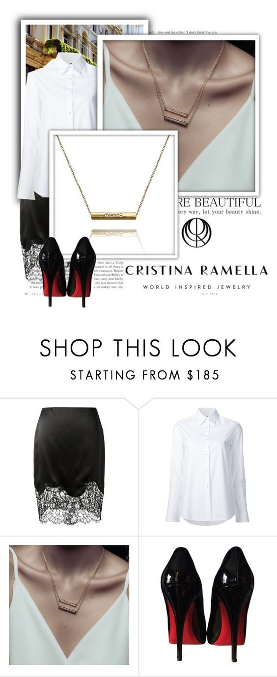 """Cristina Ramella 1"" by emily-5555 ❤ liked on Polyvore featuring Givenchy, Misha Nonoo and Christian Louboutin"