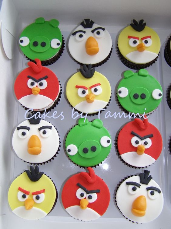 Angry Birds Cupcakes:
