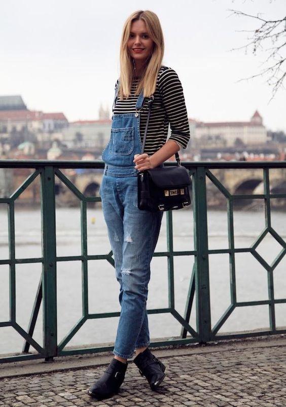 11 looks com macacão jeans por aí - Fashionismo: