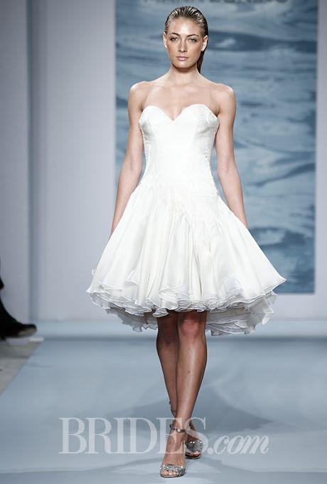 The Best Short Wedding Dresses From Fall 2018 Bridal Week | Mark ...