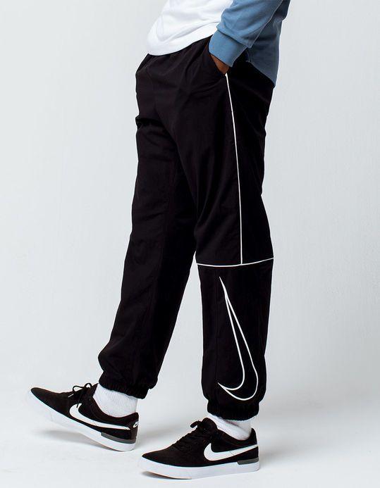 NIKE SB Swoosh Black Mens Track Pants