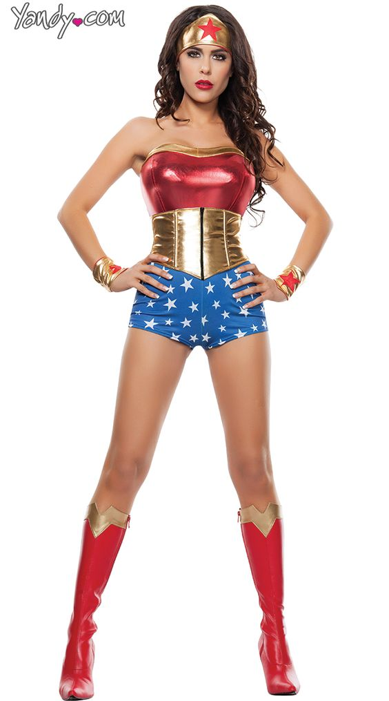 Mighty Gal Costume | Woman costumes, Sexy and Halloween ...