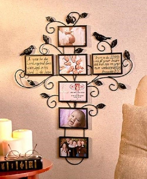 Large Cross Iron Picture Frame Wedding Photo Collage Family Tree