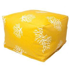 ggs room  Yellow Coral Ottomans. Cool seating for the garden.