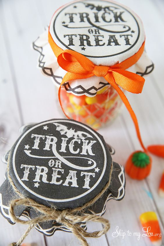 Trick or Treat Jar Covers