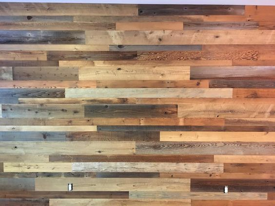 Eastern mix with Redwood . reclaimed wood wall paneling