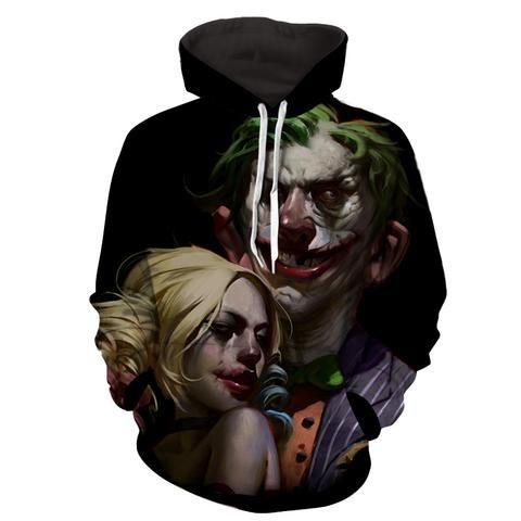 black dc comic hoodie