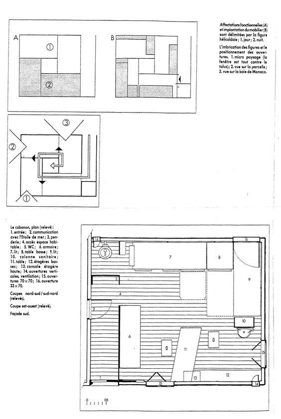 Le corbusier cabanon architecture pinterest le corbusier - Unite d habitation dimensions ...