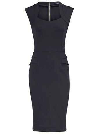 love this, but it would not flatter my body type.: Sexy Black Dress, Classy Black Dress, Dress Shape, Little Black Dresses, Lbd, Cute Black Dress, Fitted Black Dress, Peplum Dresses, Office Dresses