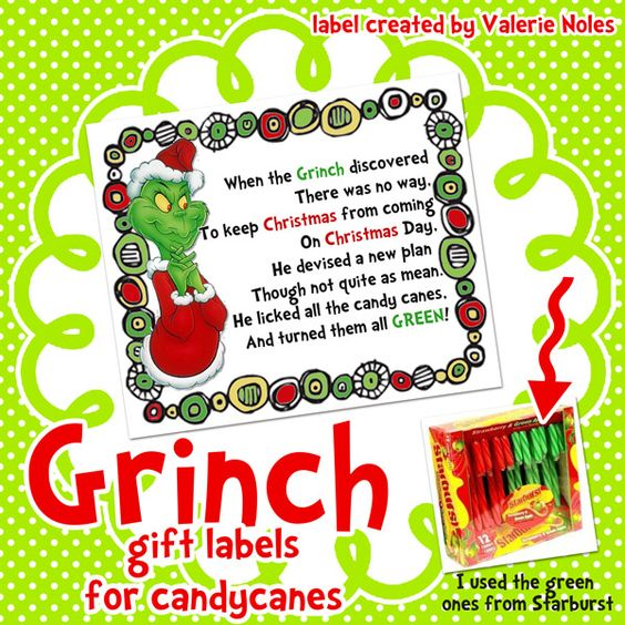 In third grade grinch printable gift labels for candy canes