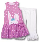 Bunny Dress & Ruffle Capris - CWDkids - Kids Clothing - CWDkids
