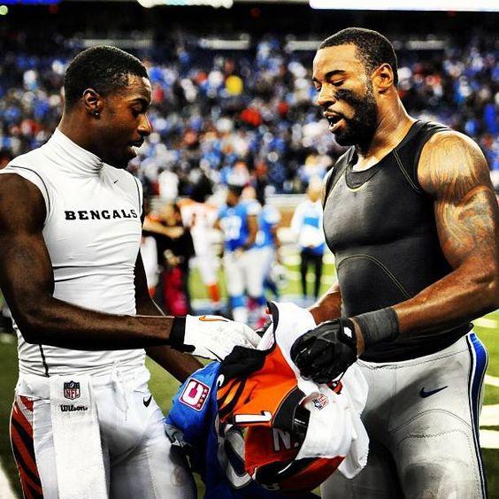 Jerseys NFL Online - Calvin Johnson Shirtless | Calvin Johnson and AJ Green exchange ...