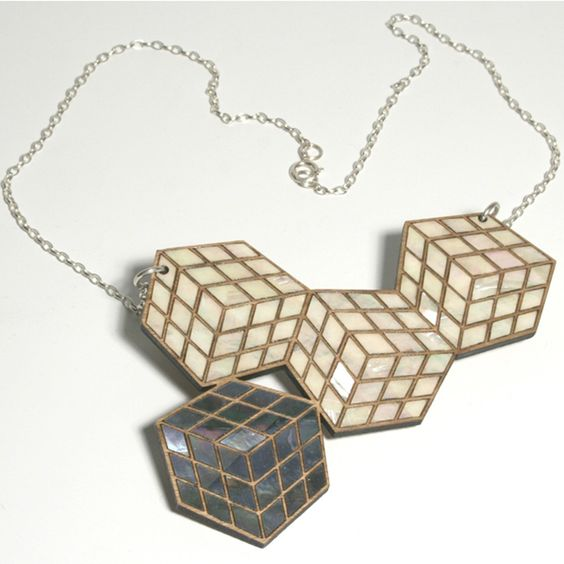 Rubiks Cube Necklace