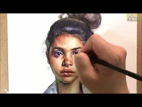Watercolor Portrait Demonstration 인체수채화 인물수채화