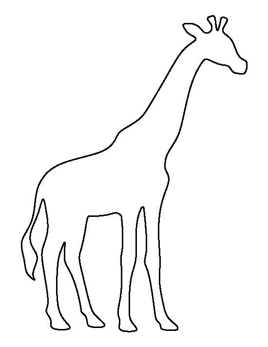 Giraffe pattern. Use the printable outline for crafts, creating ...