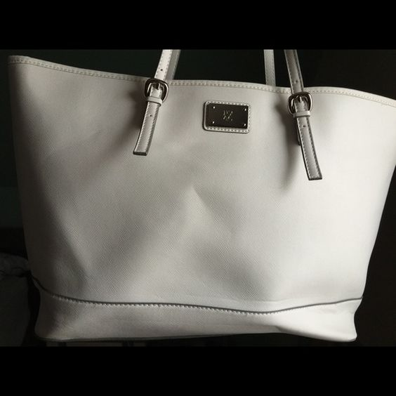 New York & Co. White Carryall White NY&Co bag, used. Shows signs of wear. New York & Company Bags Totes