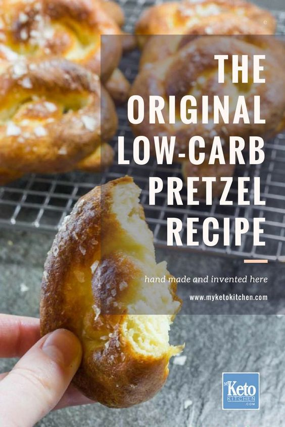 Keto Pretzels Recipe - Homemade Soft Pretzel - Low Carb & Gluten Free