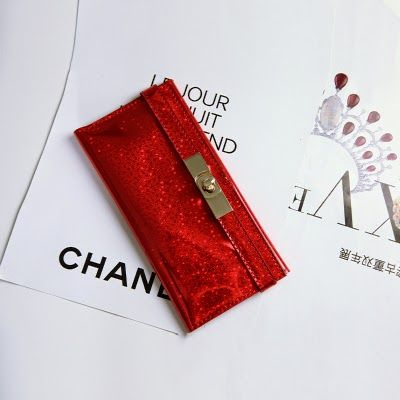 Red Holographic Pouch