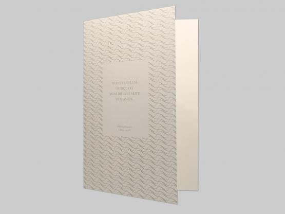 Trauerkarte - Gandhi-Offsetdruck mit Sonderfarbe