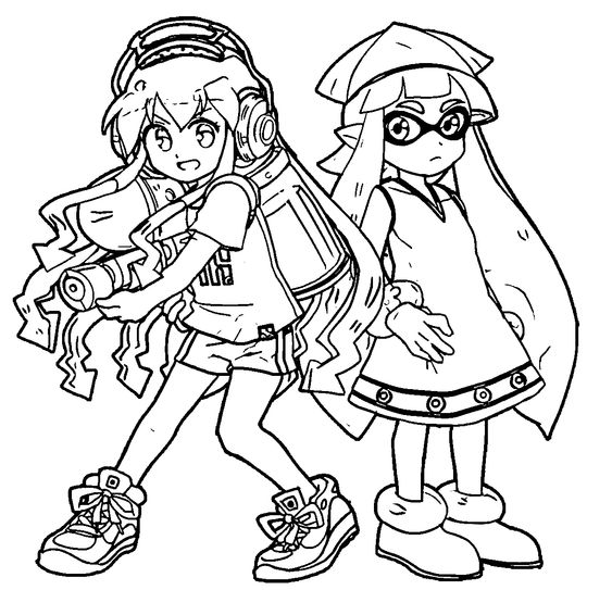 Squid Girl Coloring Pages | Squid girl