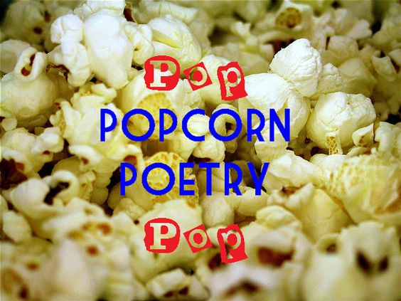 Write poems about popcorn and learn about onomatopoeia, repetition, & white space. Kids love this!