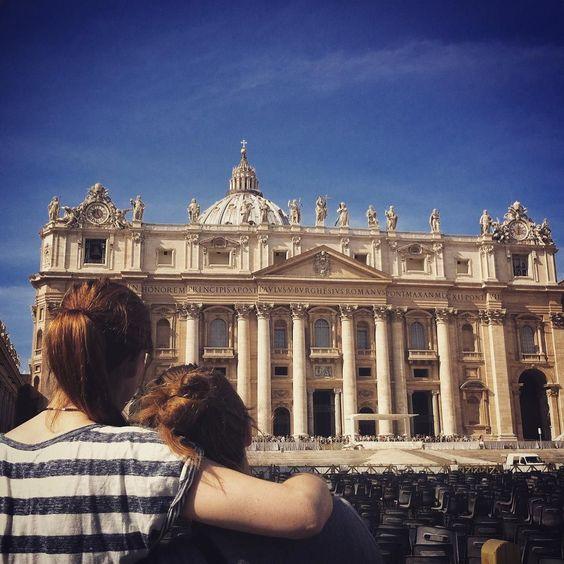 From #rome with #love #vatican #petersdom #gayisokay #lesbian #lesbisch #beautifulplace #bluesky #tanzinsflutlicht #girlslikegirls by lina_kaiser