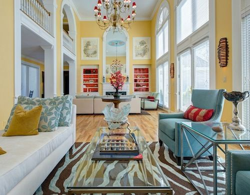 animal print rug goes surprisingly well with the other decor