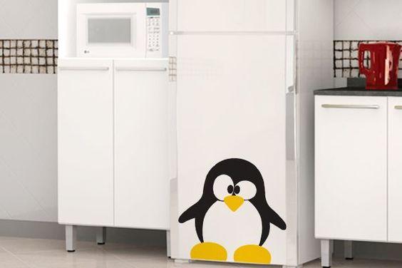 Adesivo com pinguins deixa a cozinha divertida e super alinhada com a estação! ;)