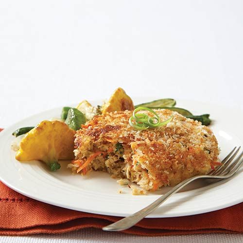 Salmon Patties with Sautéed Squash & Zucchini