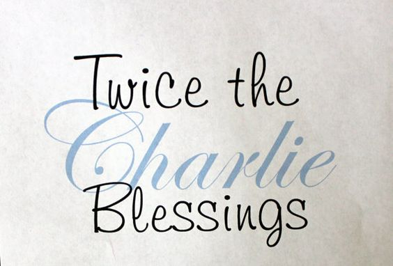 Twin Personalized Baby Onesie Twice the Blessings by PolkaDautz, $16.00