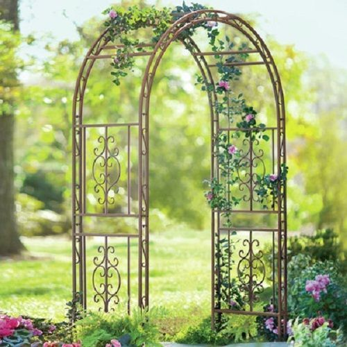 Wrought Iron Arch Arbor Trellis 84 Metal Plants Wedding Garden