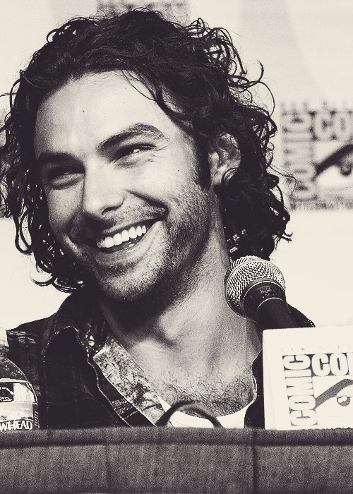 Aidan Turner...I still think he should just give in and wear his dwarven garb all the time...but dude buddy is yummy nonetheless...
