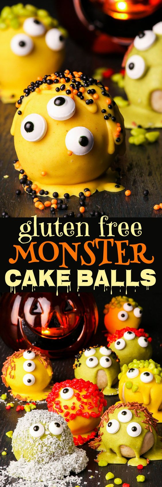 """Spooky"" Monster Halloween Cake Balls - The Loopy Whisk"