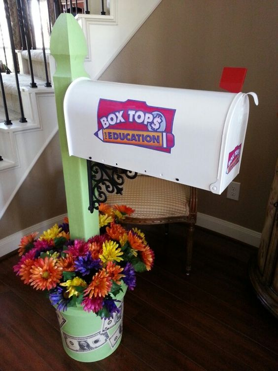 New Box Tops for Education collection mailbox I made for our school.