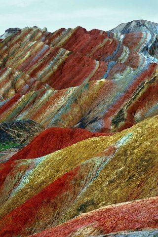 China Red Stone Park - Denksiya landscape in China