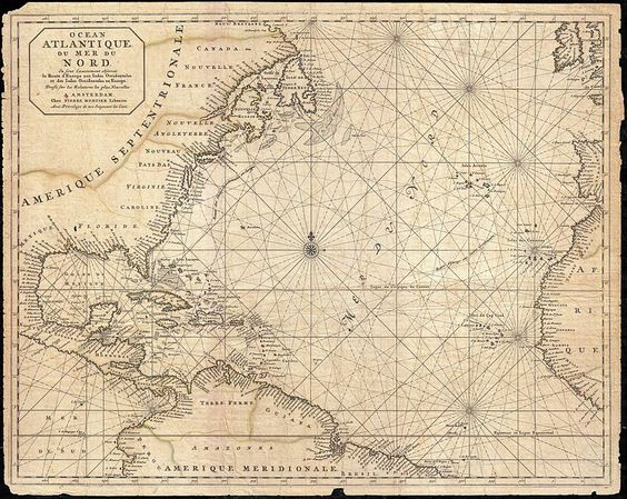 1683 Mortier Mapa da América do Norte, as Índias Ocidentais, e do Oceano Atlântico - Geographicus - Atlantique-mortier-1693.jpg