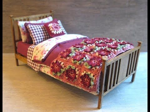DOLLS HOUSE  2 PIECE SINGLE BED SET 1:12 SCALE NEEDLES AND PINS
