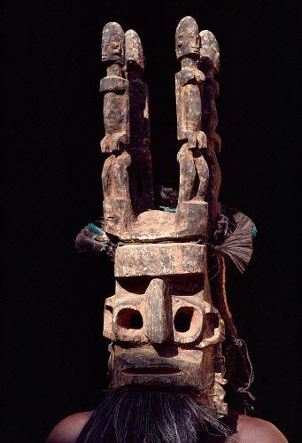 Africa | Ceremonial masked Dogon dancer. Mali | © Bryan & Cherry Alexander Photography: