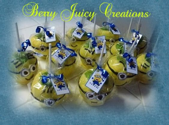 despicable me candy apple minions find me on facebook under berry juicy creations berry. Black Bedroom Furniture Sets. Home Design Ideas