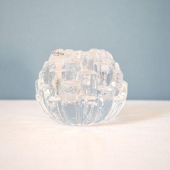 Vintage kosta boda crystal igloo votive holder snowball - Igloo vintage ...