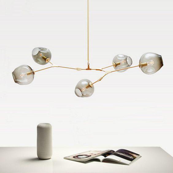 Cheap nordic cristal moderno colgante de luz comedor luz colgante ...