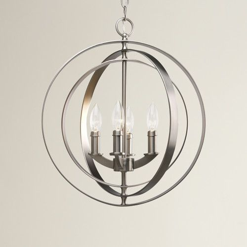 Above my dining room table?? Found it at Wayfair - Morganti 4 Light Candle Chandelier