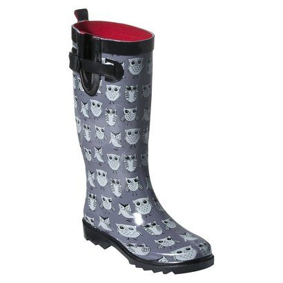 Womens Owl Rain Boots - Grey @Target | Owl Products I Need ...