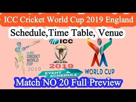 2019world Cup Australia Vs Sri Lanka 2019 Schedule Full Detail Youtube Cricket World Cup Cricket England First World Cup