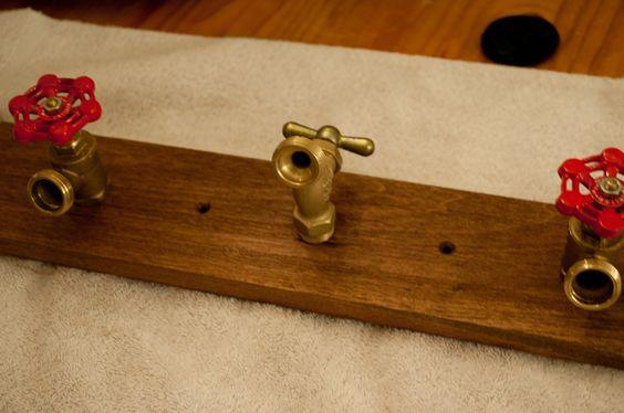 Createlive: Rustic Hardware & Faucet Coat Hanger