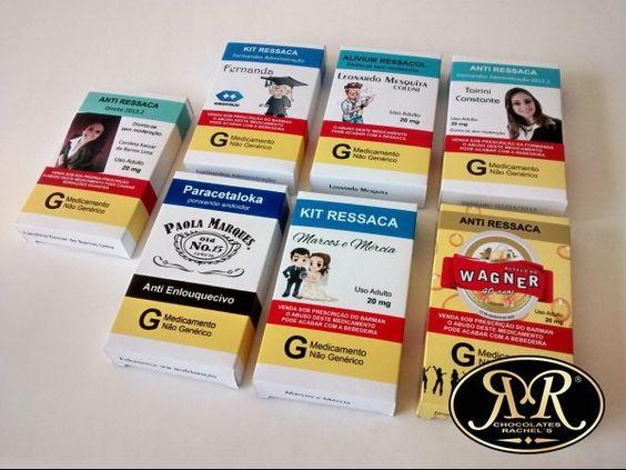 Kit ressaca (caixa personalizada) | Chocolates Rachel´s | Elo7
